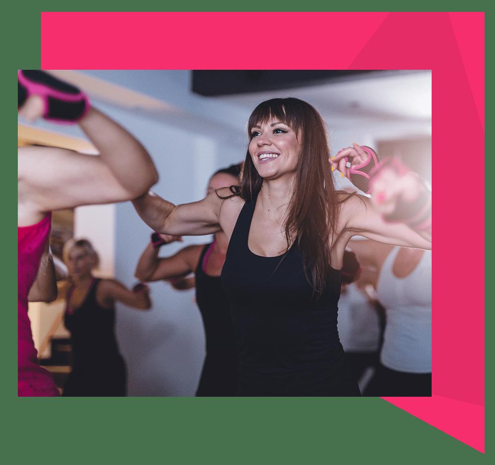 dance studio with class dancing