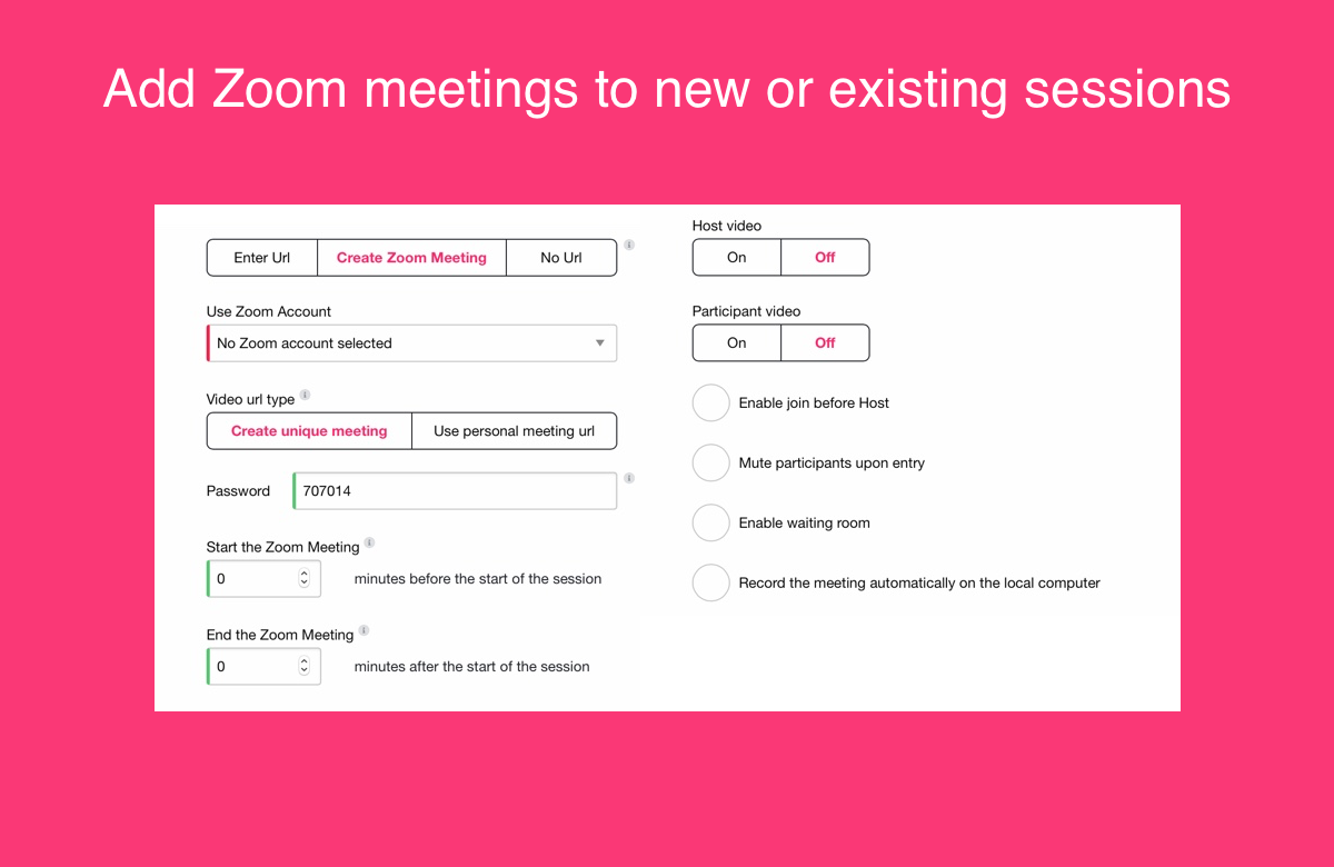 Add Zoom meetings to your classes